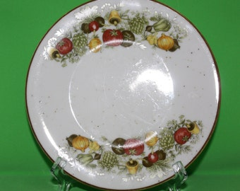 2 small Vintage Ironstone Bread Plates in Harvest Pattern