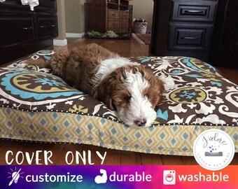 Designer Dog Bed Cover - You Choose Size - Small, Medium, Large, Extra Large - Custom Sizes available
