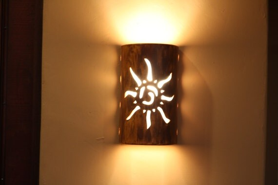 Outdoor wall sconce Southwestern Sun Indoor Wall Light