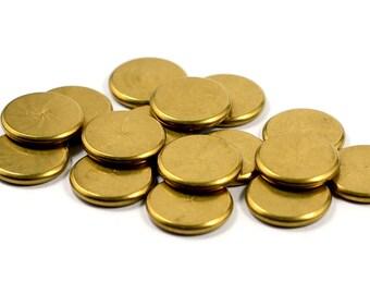 100 Pcs. Solid Raw Brass 2x14 mm Brass Disc Findings