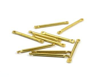 25 Pcs. Raw Brass 1.8x25 mm Stick 2 Hole Findings