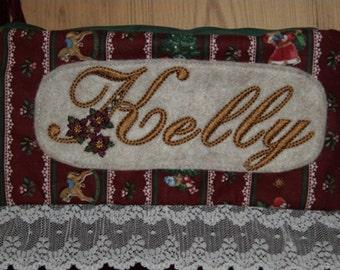 KUHL039 Christmas Alphabet Machine Embroidery Design