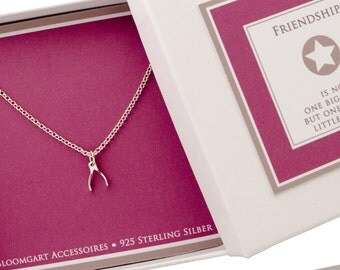 Chain WISHBONE jewelry 925 sterling silver