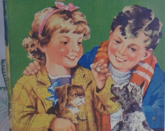 Playful Puppies Vintage Book