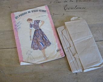 1950s dress pattern Les Patrons Marie-Claire no 4353