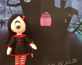 Cyclops doll IRIS  25cm/10in of Gloomsville, Ruby Gloom's best friend! Removable clothing.