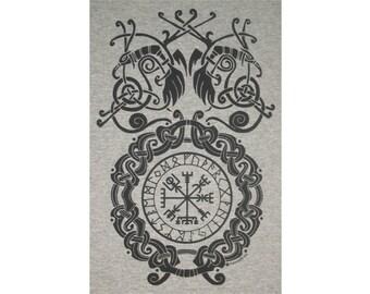 Vegvísir Bind Rune Circle Viking T-Shirt BL