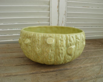 Art Deco Pottery Bowl, Drip Glazed Bowl with Tree, Branch Shape. Made in England, 61D, 1930's Art Deco Bowl, Fruit Bowl, Plant Pot