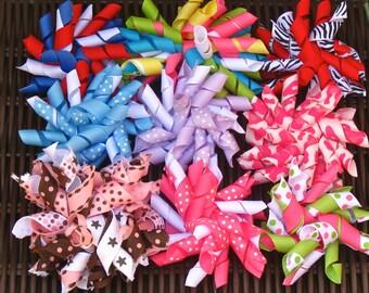 SALE Korker Hairbow Grab Bag-Includes 3 different bows/My Choice -  Korker Hairbow Grab Bag - Sale Bows - Bargain Bows, BowBravo