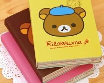 Kawaii Rilakkuma Memo Pad Book Cute Mini Travel Notepad Diary Notebook
