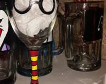 Harry Potter Inspired Glass