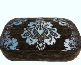 Stool upholstered seat, footrest, footrest, footstool, stool, foot stool, padded, size 40 x 27 cm, height 13 cm,