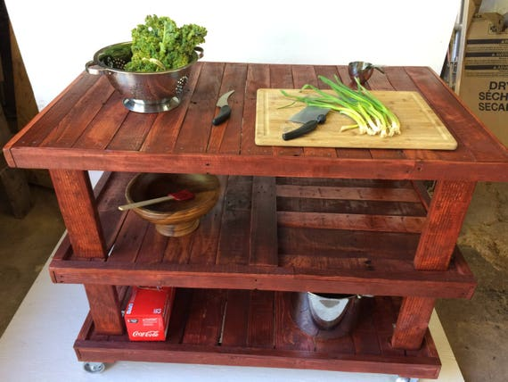Large Industrial Rustic Kitchen Island from Feath & Kee