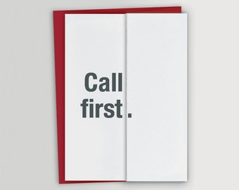 Funny Card for In-Law / Mother-in-Law Card / Father-in-Law Card / Call first
