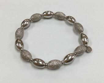Italy 925 Sterling Silver Beaded Bracelet!!!!