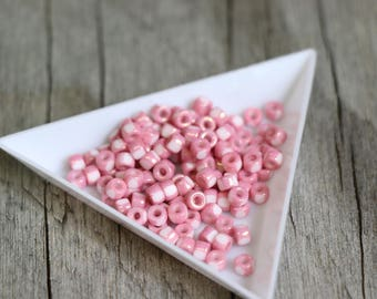 Beads - MATUBO 6/0 Chalk Red Lustre - approx 8gm/tb