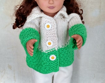 doll's green snow suit