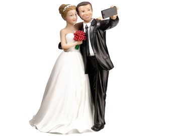 Selfie Wedding Couple Cake Topper Humorous Wedding