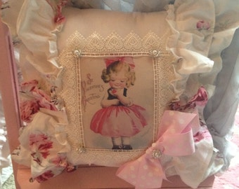 ruffled Valentine pillow