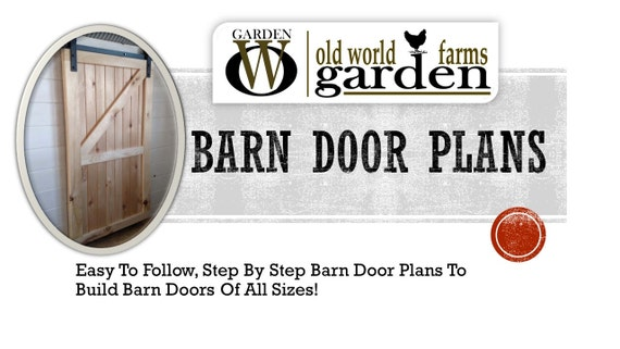 barn door plans step by step building plans by owgardenvintage