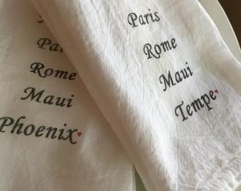Tempe or Phoenix Hometown City Staycation worthy - Tea Towel
