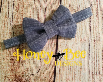 Boy Bowtie, Chambray, Easter,  Photo Prop