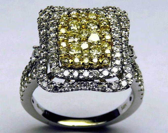 Yellow & White Genuine Diamond Ring