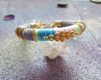 YUKI - ethnic chic rope bracelet, pastel bracelet, festival bracelet, colorful bracelet, colorful jewelry, statement bracelet,baby pink,boho