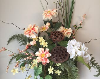 SUMMER WOODLAND - Chic Shabby Cottage Rustic Woodsy Spring/Summer Moss Wall Basket