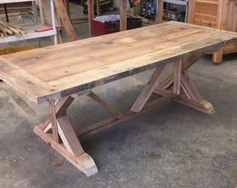 100 Solid Reclaimed Oregon Farm Style Rustic Dining