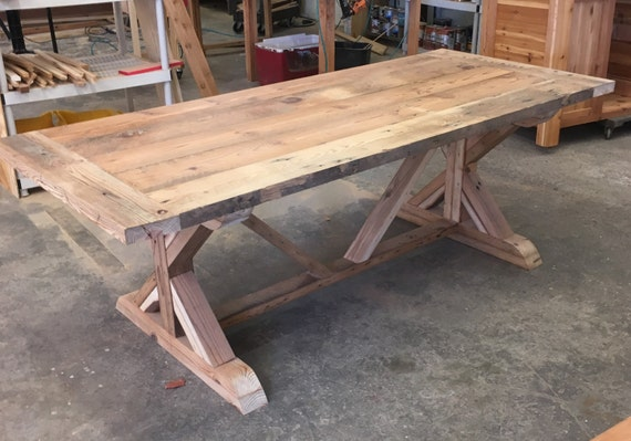 Farm Table And Benches Custom Made With Reclaimed Wood Barn