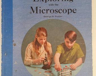 Sears Roebuck Science Book, Scientific Graphics Scrapbook  Collage Ephemera, 1970s Science Textbook Biology Chemistry Laboratory Microscope
