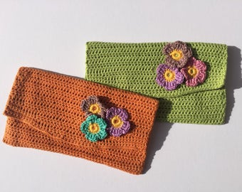Handmade Crochet Bag / handmade bag / crochet bag / crochet wallet / crochet pouch / gift for mum / gift for sister / makeup bag
