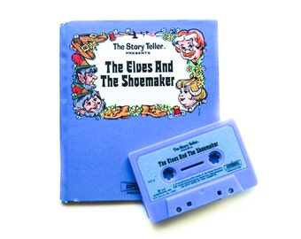 The Elves and the Shoemaker, 1973, The Story Teller,  illustrations by Rex Irvine and Judie Clarke, Cassette Tape, hardcover, Vintage