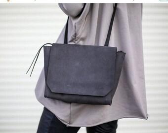 Sale, Small Leather Bag, Crossbody Bag, Women Mini Shoulder Bag - Black Blur