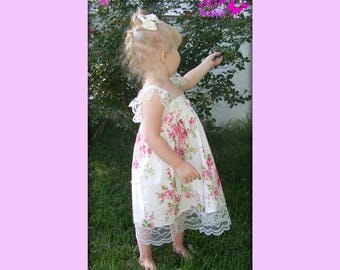 Tanya Whelan OOP Barefoot roses and Lace Hattie Molly Ellie style dress toddler girl