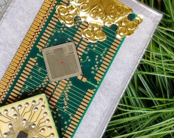 Computer memory - Vintage IBM® - Samsung® - Silicon Valley Semiconductor chips - Christmas Ornament