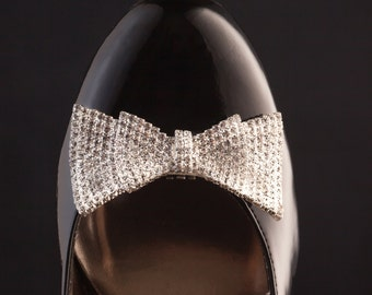 Bow Shoe Clips, Diamond Shoe Clips, Rhinestone Bride Shoe Buttons, Crystal Shoe Bow, New Year's Eve Shoe Clips, Prom Shoe Bows, Bow Clips