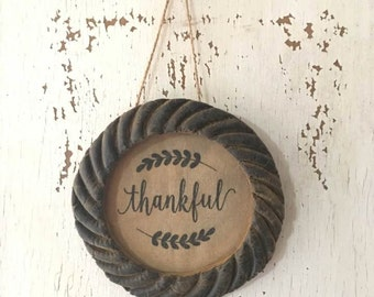 Primitive Beeswax Frame - Thankful