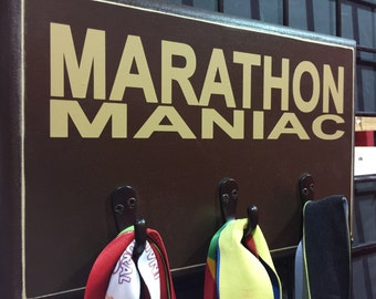 MARATHON MANIAC Race, Marathon, Half Marathon, TRI, 10K Running Medal Holder
