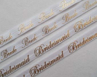 Bridesmaid, Bride…elastic ribbon-FOE is used for making headbands, sewing, Bridal shower, Brides ties, Bridesmaid hair, Bachelorette Party