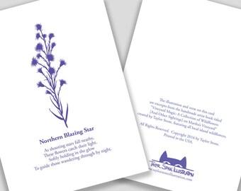 Northern Blazing Star Flower Card with Poem