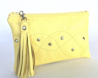 Monroe Leather Pouch:  Yellow