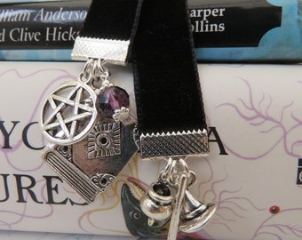 Pentacle/ Witches Besom/Cauldron/ Hat Bookmark Pagan/Wiccan/ Book of Shadows