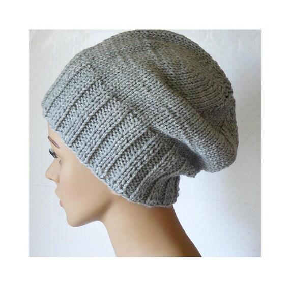 Women s Beanie Knitting Pattern : Knitting PATTERN, Knit Slouchy Beanie Pattern, Womens Knit ...
