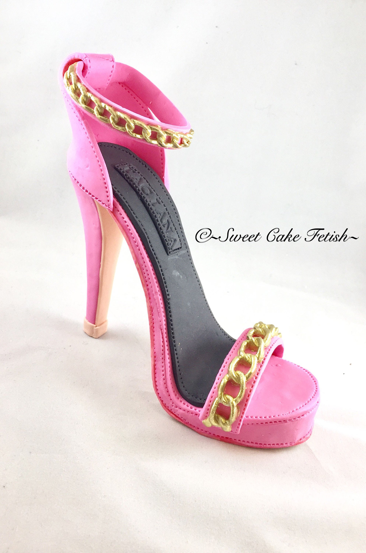 gumpaste high heel shoe fondant shoe high heel cake topper