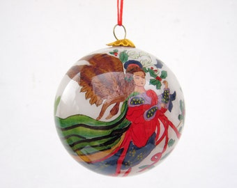 Vintage Hand Painted Christmas Ornaments - Xmas Tree Decor