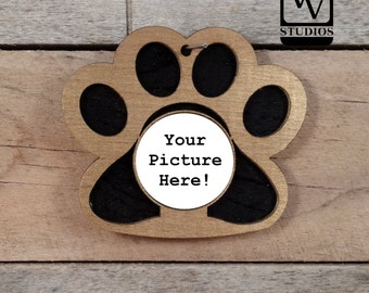 Gold Paw Picture Christmas Ornament