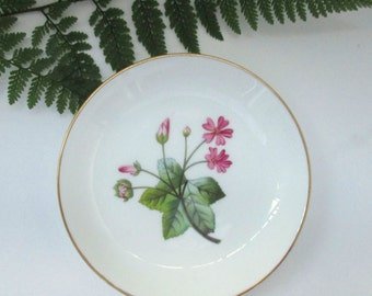 Minton, Malva, Made in England, Small Bone China Violet Dish with Gold Edge - Ring Dish, Trinket Dish