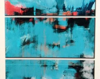 Original abstract Painting wall,meal wall art. Oil Painting, Wall Art Handmade Colorful Abstract Large Metal Wall